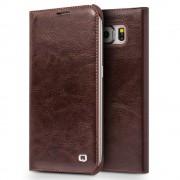 Samsung Galaxy S6 brun cover premium læder med lomme, Samsung Mobil cover tilbehør hos Leveso.dk
