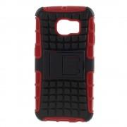 til Samsung Galaxy S6 Edge rød bag cover hybrid, Samsung cover og tilbehør hos Leveso.dk