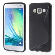 Galaxy A3 S-line tpu cover sort Mobil tilbehør