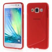 Galaxy A3 S-line tpu cover rød Mobil tilbehør
