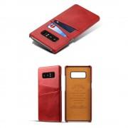Samsung Galaxy Note 8 cover med kortholder rød Mobilcovers