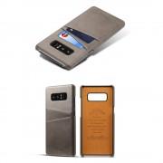 Samsung Galaxy Note 8 cover med kortholder grå Mobilcovers