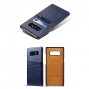 Samsung Galaxy Note 8 cover med kortholder blå Mobilcovers