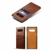 Samsung Galaxy Note 8 cover med kortholder brun Mobilcovers