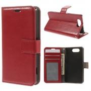 Sony Xperia Z3 compact rød flip cover med lommer Mobil tilbehør