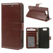 til Sony Xperia Z3 compact flip cover brun med lommer Mobil tilbehør