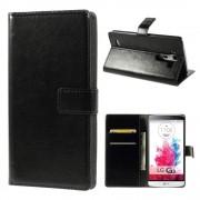LG G3 læder cover med kort lommer sort, Mobiltelefon tilbehør