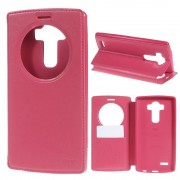 LG G4 flip cover med vindue rosa Mobilcover