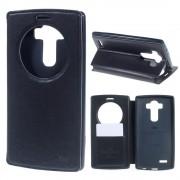 LG G4 blå flip cover med vindue Mobilcover