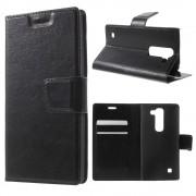 LG SPIRIT læder cover med lommer sort, Mobiltelefon tilbehør