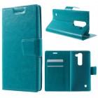 LG SPIRIT læder cover med lommer blå, Mobiltelefon tilbehør