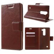 LG SPIRIT læder cover med lommer brun, Mobiltelefon tilbehør