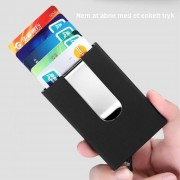 sort Kortholder RFID med pengeclips Universal tilbehør