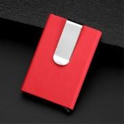 rød Kortholder RFID med pengeclips Universal tilbehør