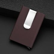 mørkebrun Kortholder RFID med pengeclips Universal tilbehør