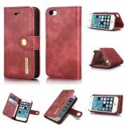 2 i 1 cover rød Iphone SE / 5 / 5S ægte læder Mobilcovers