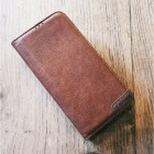 brun Lavann læder etui Iphone X/Xs Mobil tilbehør