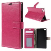 HUAWEI ASCEND P8 læder cover med kort lommer, rosa Mobiltelefon tilbehør