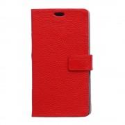 HUAWEI ASCEND P8 full grain læder cover, rød Mobiltelefon tilbehør
