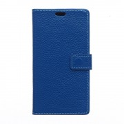 HUAWEI ASCEND P8 full grain læder cover, blå Mobiltelefon tilbehør