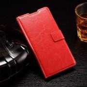 HUAWEI ASCEND P8 LITE læder cover med kort lommer, rød Mobiltelefon tilbehør