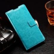 HUAWEI ASCEND P8 LITE læder cover med kort lommer, turkis Mobiltelefon tilbehør