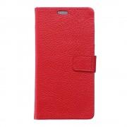 HUAWEI HONOR 7 full grain læder cover, rød Mobiltelefon tilbehør