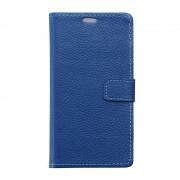 HUAWEI HONOR 7 full grain læder cover, blå Mobiltelefon tilbehør
