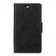 HUAWEI Y6 læder cover med lommer sort, Mobiltelefon tilbehør