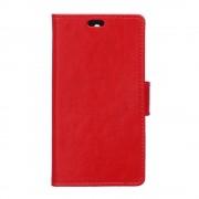 HUAWEI Y6 læder cover med lommer rød, Mobiltelefon tilbehør