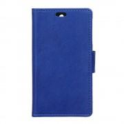 HUAWEI Y6 læder cover med lommer blå, Mobiltelefon tilbehør
