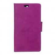 HUAWEI Y6 læder cover med lommer lilla, Mobiltelefon tilbehør