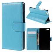 HUAWEI P8 LITE læder cover med kort lommer blå, Mobiltelefon tilbehør