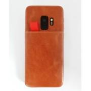 Galaxy S9 brun case med 2 kortholdere Mobil tilbehør