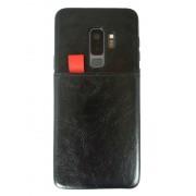 Viser Galaxy S9 plus case med 2 kort lommer sort