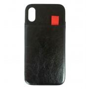 Viser Iphone Xs case med 2 kort lommer sort