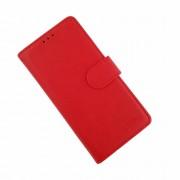 Klassisk læder cover Samsung A10 rød Mobil tilbehør