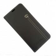 LA læder flip etui Samsung A50 sort Mobil tilbehør