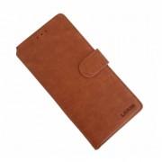 brun Læder flip etui LA Samsung A80 Mobil tilbehør