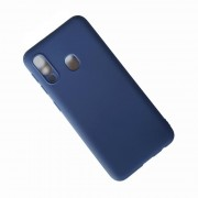 blå Forcell soft silikone cover Samsung A20E Mobil tilbehør