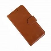 brun LA læder flip cover Iphone XS Mobil tilbehør