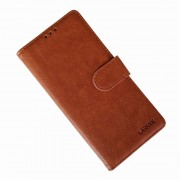 brun LA flip etui Samsung Note 10 Mobil tilbehør