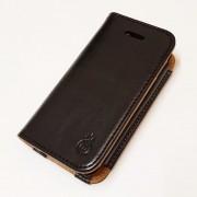 IPHONE 4S læder pung cover, sort Mobiltelefon tilbehør