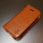 IPHONE 4S læder pung cover, brun Mobiltelefon tilbehør