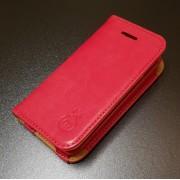 IPHONE 4S læder pung cover, rød Mobiltelefon tilbehør