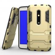 MOTOROLA MOTO X PLAY hybrid bag cover, guld Mobiltelefon tilbehør