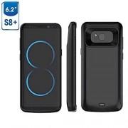 Viser Galaxy S8 plus batteri cover 5500 mAH sort