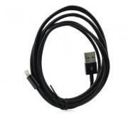 2 meter Lightning kabel sort Mobiltelefon tilbehør