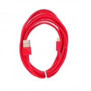 2 meter Lightning kabel rød Mobiltelefon tilbehør