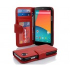 Flip cover LG Nexus 5 rød Mobil tilbehør